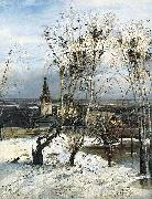 Alexei Savrasov The Rooks Have Come Back was painted by Savrasov near Ipatiev Monastery in Kostroma. oil