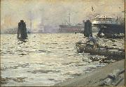 Anders Zorn The Port of Hamburg, china oil painting reproduction