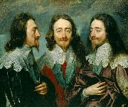 Anthony Van Dyck This triple portrait of King Charles I was sent to Rome for Bernini to model a bust on china oil painting reproduction