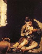Bartolome Esteban Murillo Is pursuing a flea boy china oil painting reproduction