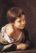 Bartolome Esteban Murillo Window, smiling boy china oil painting reproduction