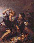 Bartolome Esteban Murillo Children to eat dessert china oil painting reproduction