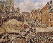 Camille Pissarro morning market china oil painting reproduction