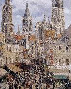 Camille Pissarro The streets of Rouen china oil painting reproduction