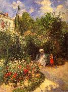Camille Pissarro The garden of Pontoise china oil painting reproduction