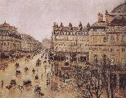 Camille Pissarro rain in the French Theater Square china oil painting reproduction