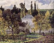 Camille Pissarro Loose multi tile this Ahe rice Tash s villa china oil painting reproduction
