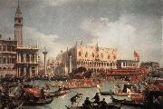 Canaletto The Bucintore Returning to the Molo on Ascension Day c china oil painting reproduction