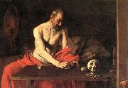 Caravaggio St Jerome 1607 Oil on canvas china oil painting reproduction