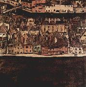Egon Schiele Die kleine Stadt II. china oil painting reproduction
