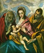 El Greco virgin with santa ines and santa tecla china oil painting reproduction