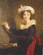 Elisabeth Louise Viegg-Le Brun Self portrait, painted at Florence, china oil painting reproduction