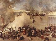 Francesco Hayez Destruction of the Temple of Jerusalem china oil painting reproduction