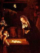 Geertgen Tot Sint Jans Geertgen depicted the Child Jesus as a light source on his painting The Nativity at Night china oil painting reproduction