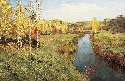 Isaac Levitan Golden Autumn china oil painting reproduction