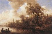 Jan van Goyen River Scene china oil painting reproduction