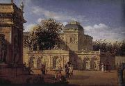 Jan van der Heyden Baroque palace courtyard china oil painting reproduction