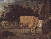 Jan van der Heyden Square cattle china oil painting reproduction