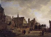 Jan van der Heyden Imagine the church and buildings china oil painting reproduction