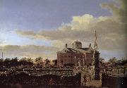 Jan van der Heyden Castle Garden in the rear china oil painting reproduction