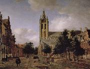 Jan van der Heyden Old church landscape china oil painting reproduction