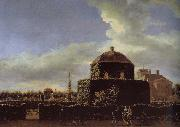 Jan van der Heyden Side of Castle Garden china oil painting reproduction
