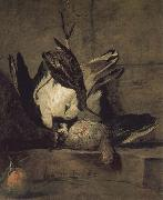 Jean Baptiste Simeon Chardin Wheat gray partridges and Orange Chicken china oil painting reproduction