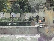 Joaquin Sorolla Pool oil painting picture wholesale