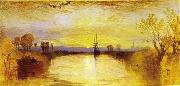 Joseph Mallord William Turner Chichester Canal vivid colours may have been influenced by the eruption of Mount Tambora in 1815. china oil painting reproduction