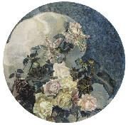 Mikhail Vrubel Roses and Orchids, china oil painting reproduction