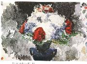 Mikhail Vrubel Flowers in Blue Vase china oil painting reproduction