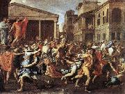 Nicolas Poussin Rape of the Sabine Women, Rome, china oil painting reproduction