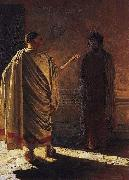 Nikolai Ge Quod Est Veritas Christ and Pilate china oil painting reproduction