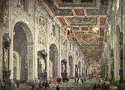 PANNINI, Giovanni Paolo Interior of the San Giovanni in Laterano in Rome china oil painting reproduction