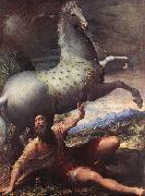 PARMIGIANINO The Conversion of St Paul - Oil on canvas china oil painting reproduction