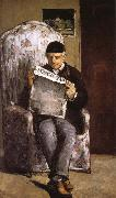 Paul Cezanne in reading the artist's father china oil painting reproduction
