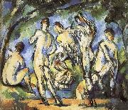 Paul Cezanne were seven men and Bath china oil painting reproduction
