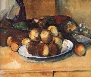 Paul Cezanne plate of peach china oil painting reproduction