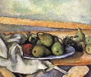Paul Cezanne plate of pears china oil painting reproduction