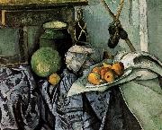 Paul Cezanne bottles and fruit still life china oil painting reproduction