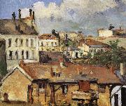 Paul Cezanne rooftop china oil painting reproduction