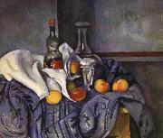 Paul Cezanne and fruit still life of wine china oil painting reproduction