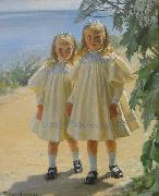 Peder Severin Kroyer The Benzon daughters china oil painting reproduction