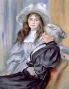 Pierre-Auguste Renoir Portrait of Berthe Morisot and daughter Julie Manet, china oil painting reproduction