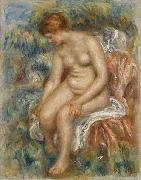 Pierre-Auguste Renoir Seated Bather Drying Her Leg, china oil painting reproduction