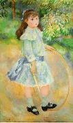 Pierre-Auguste Renoir Girl With a Hoop, china oil painting reproduction