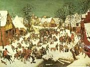 Pieter Bruegel barnamorden i betlehem. china oil painting reproduction