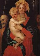 Pontormo St. John family with small china oil painting reproduction