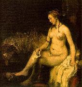 REMBRANDT Harmenszoon van Rijn Bathsheba in her bath, also modelled by Hendrickje, china oil painting reproduction
