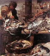 SNYDERS, Frans The Fishmonger china oil painting reproduction